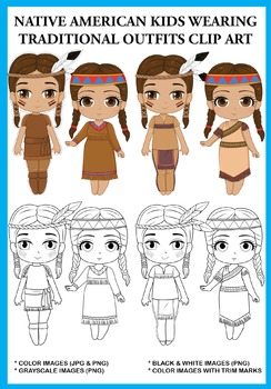 Native American clipart outfit H 48 T  emperature