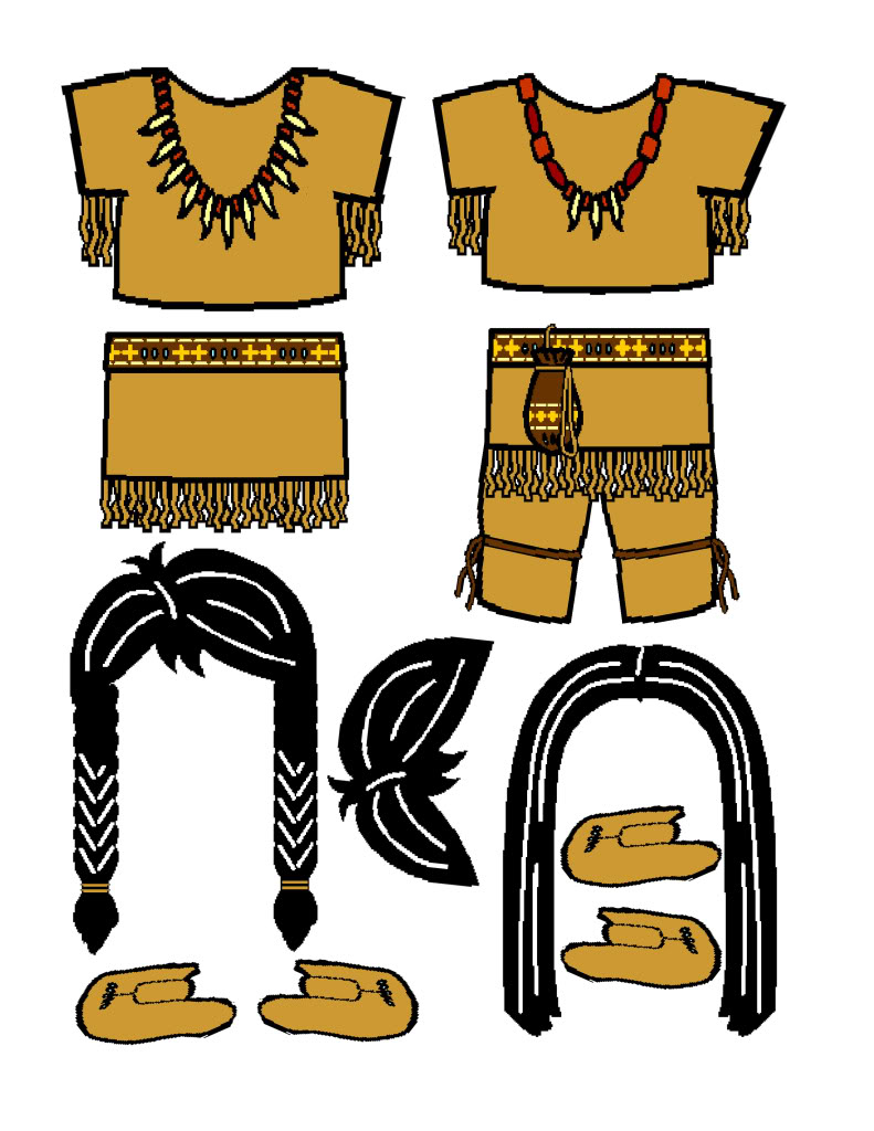 Native American clipart outfit Different the dolls found