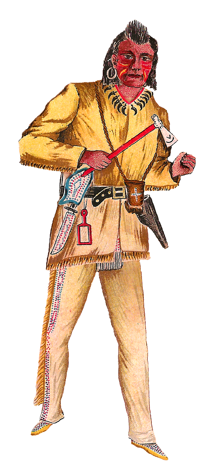 Native American clipart outfit Put blue top bright Native