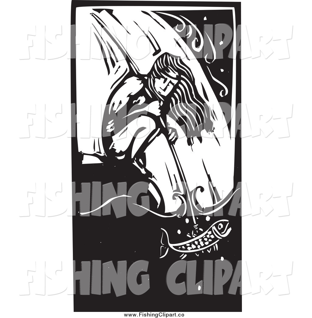 Native American clipart person fishing Clip American Crouching Clip at