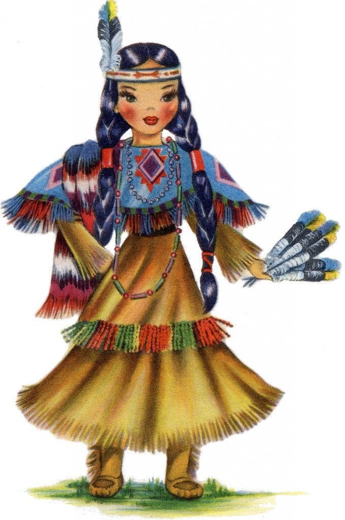 Native American clipart person sewing On Native Doll best Retro