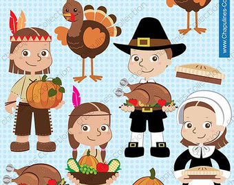 Native American clipart pilgrims Thanksgiving native Etsy clipart off