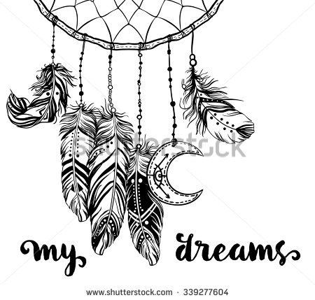 Moon clipart dreamcatcher  American Dream Feathers Of