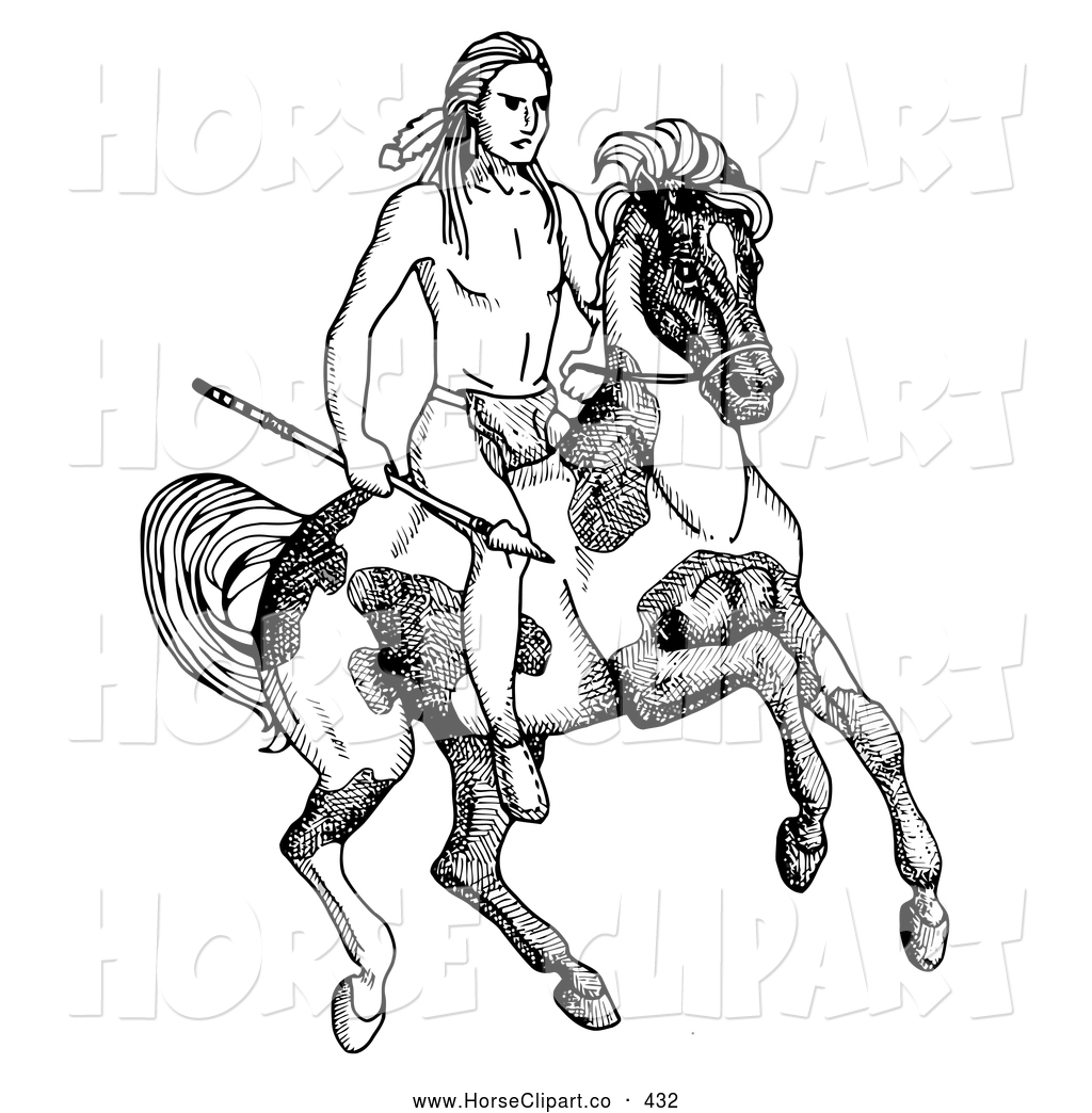 Horse Riding clipart native american American Native a black american