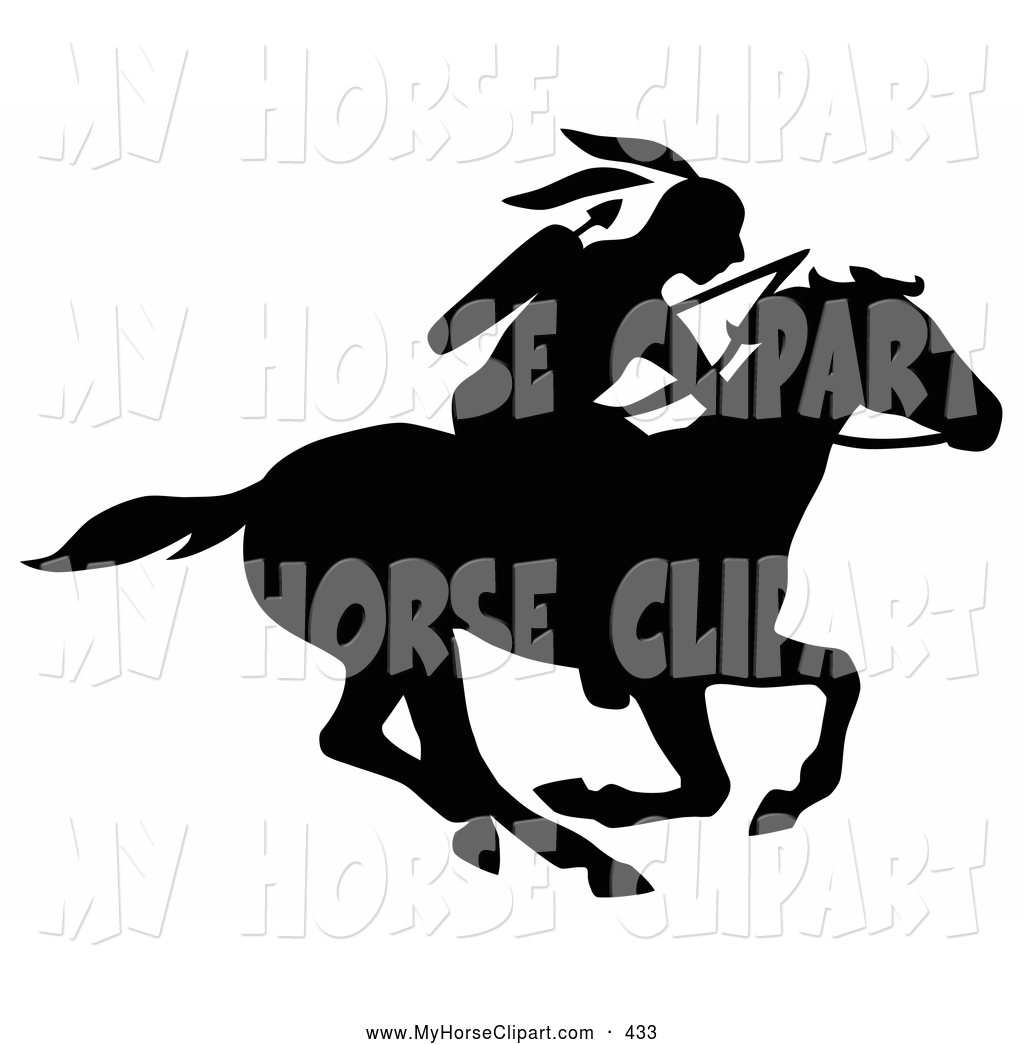 Horse Riding clipart native american Arrows Running a with Horse