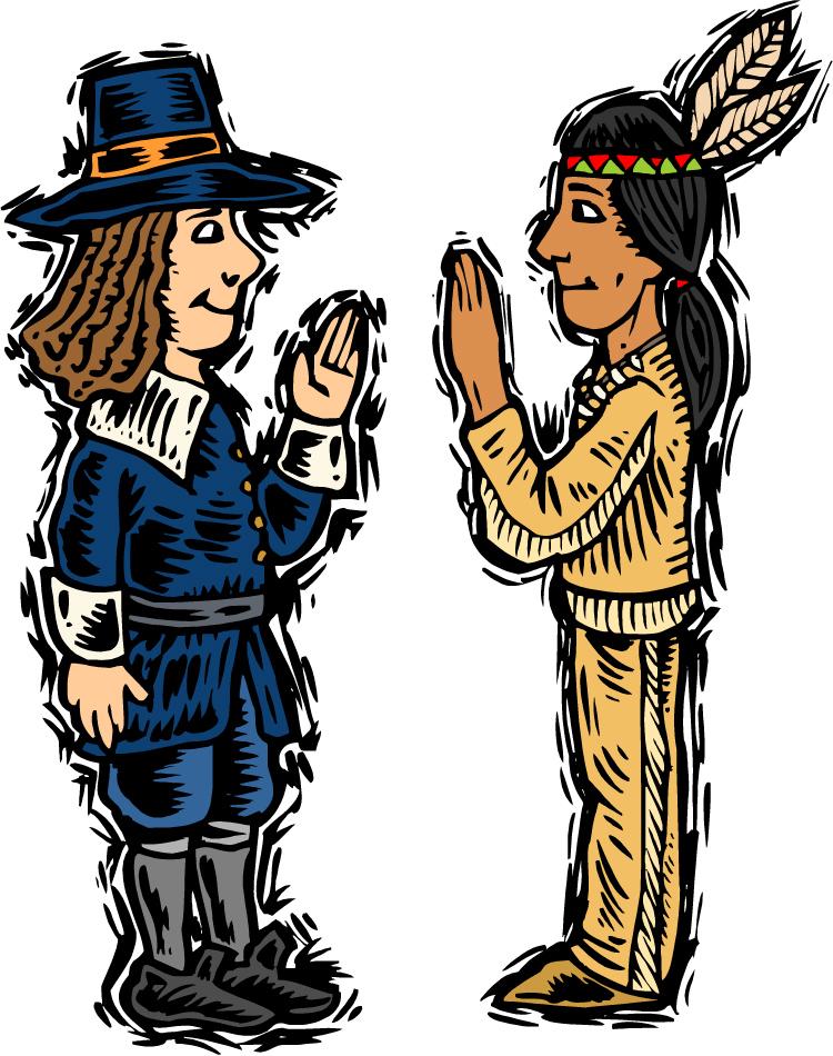 Pilgrim clipart native american Free american art images clipart