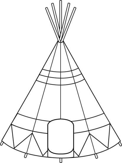 Native American clipart teepee tent Coloring Design Clip Tent Free