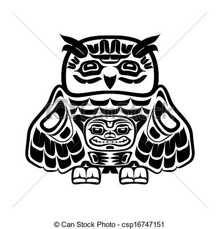 Native American clipart totem pole Art art csp16747151 Vector Clipart