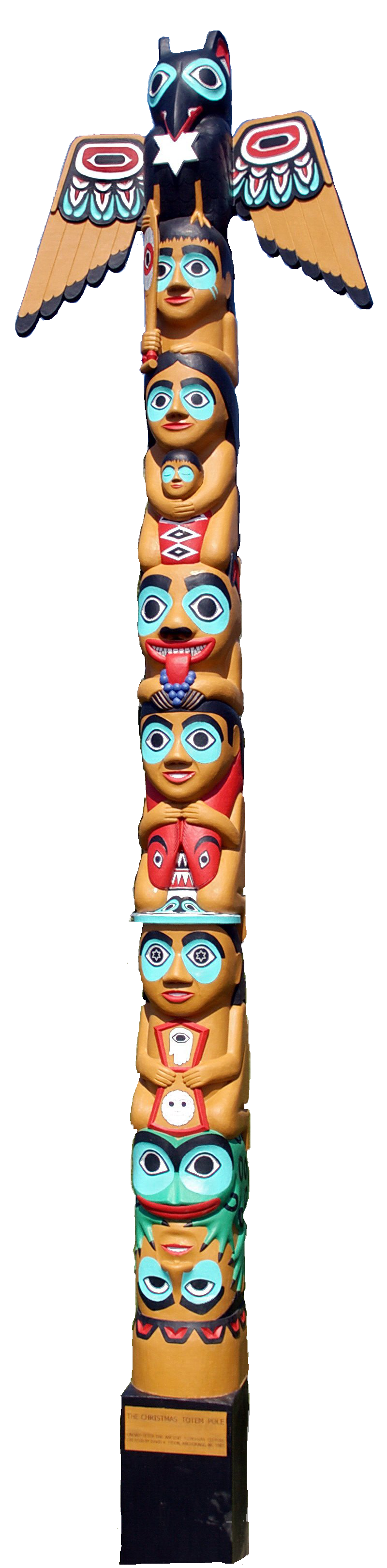 Native American clipart totem pole A the Indians Being had