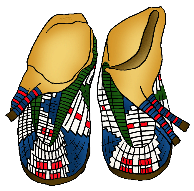 Native American clipart transparent Phillip Americans by Moccasins Clip
