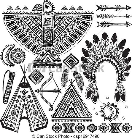 Native American clipart tribal Of of  symbols American