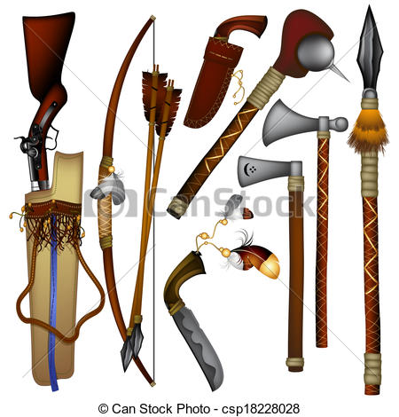 Ancient clipart indian Used of set  Indian