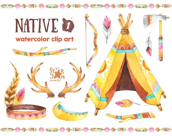 Native American clipart wigwam Clipart tribal indian Native 1