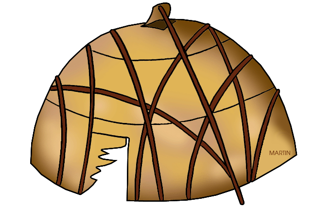 Native American clipart wigwam Woodland by Martin Woodland
