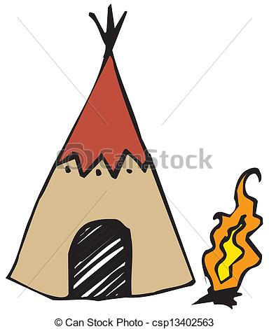 Native American clipart wigwam American Indian in design on