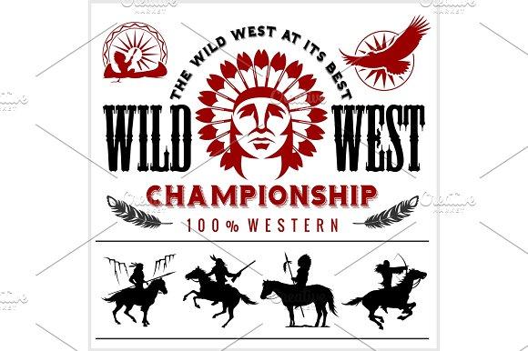 Native American clipart wild wild west Chief Design head West head