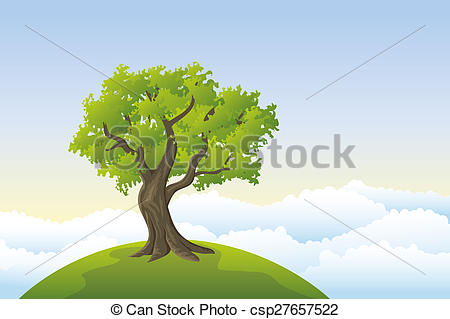Nature clipart big tree Csp27657522 Search Clipart hill tree