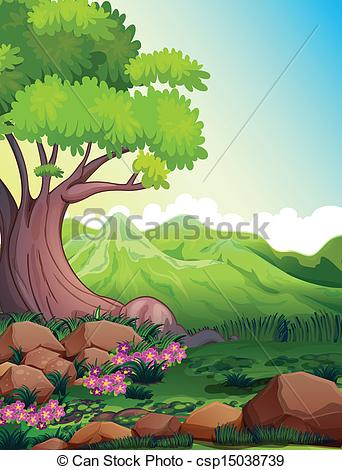 Nature clipart big tree Tree forest Illustration of the