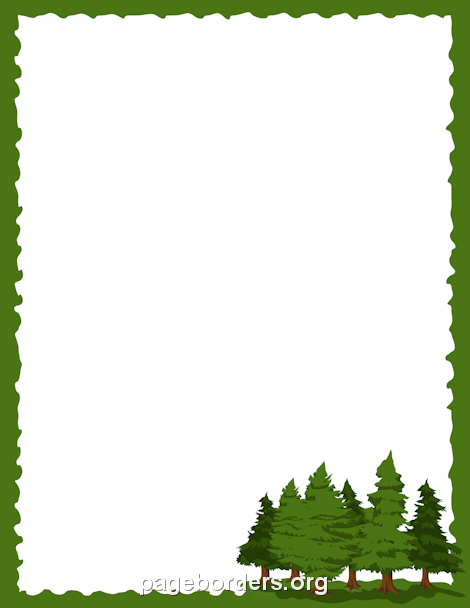 Pine Tree clipart tree border Page Art Clip Pine and