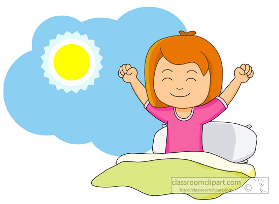 Boy clipart wakes up Morning Clipart Clipart Clipart Clipart