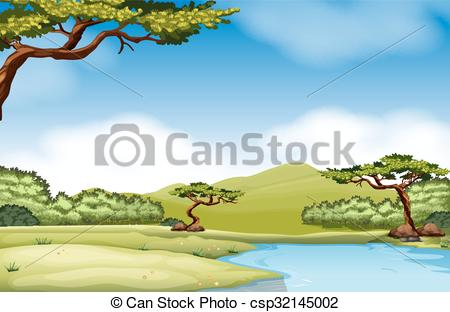 River clipart natural scene And Nature csp32145002 with scene