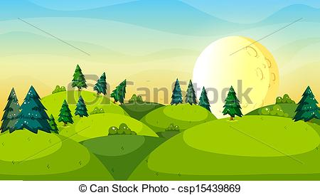 Drawn hill clip art Clip of hills trees above