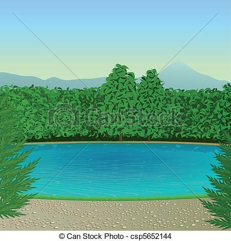 Scenery clipart lake #5