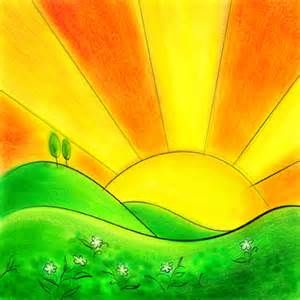 Nature clipart morning sunrise Clipart images bing sunsets art