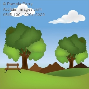 Nature clipart nature park A in a Trees of