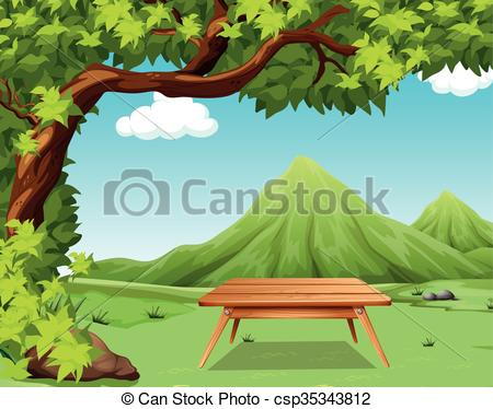 Park clipart nature park Table scene Nature with
