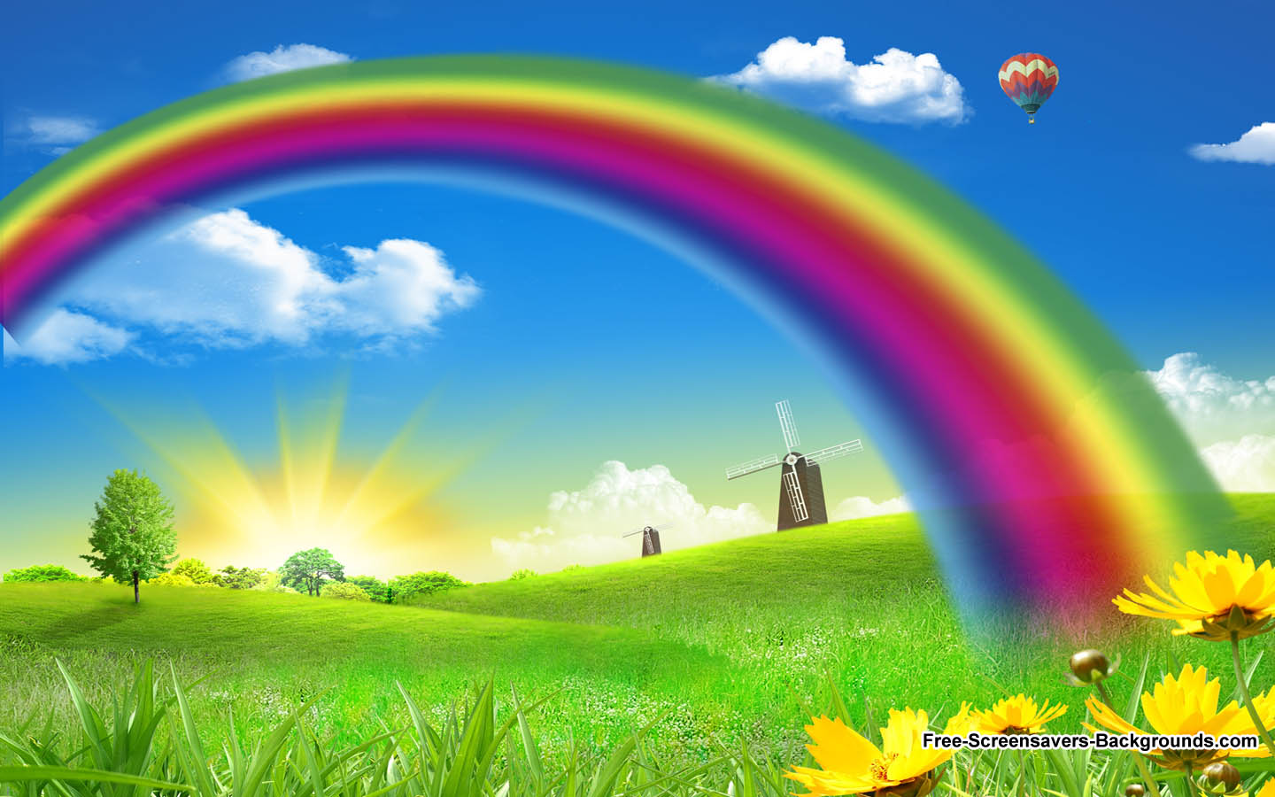ClipartFest with rainbow Nature wallpaper