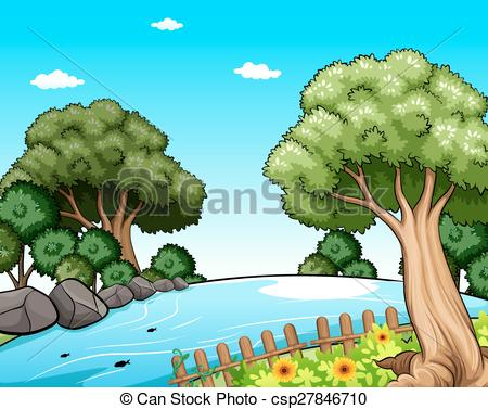 Nature clipart scenery #4