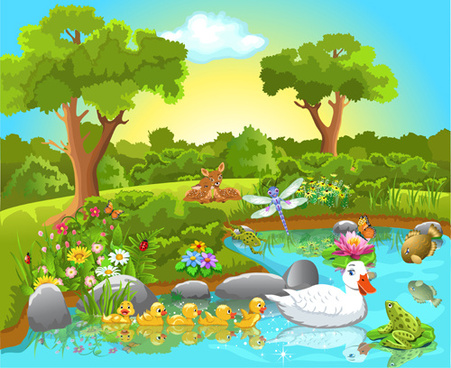 Nature clipart scenery #5