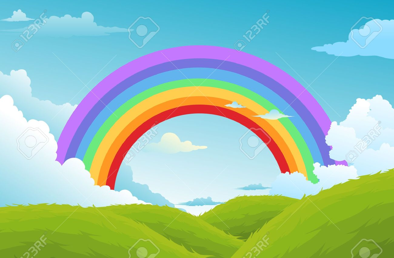 Drawn rainbow cloud graphic  clipart Free Clip Download