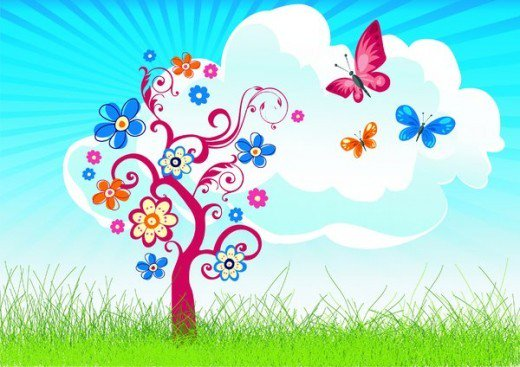 Blossoming Free Butterflies ART HubPages