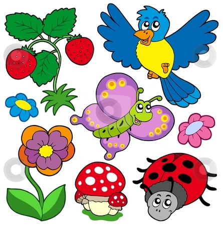 Nature clipart spring time Nature time Spring collection nature
