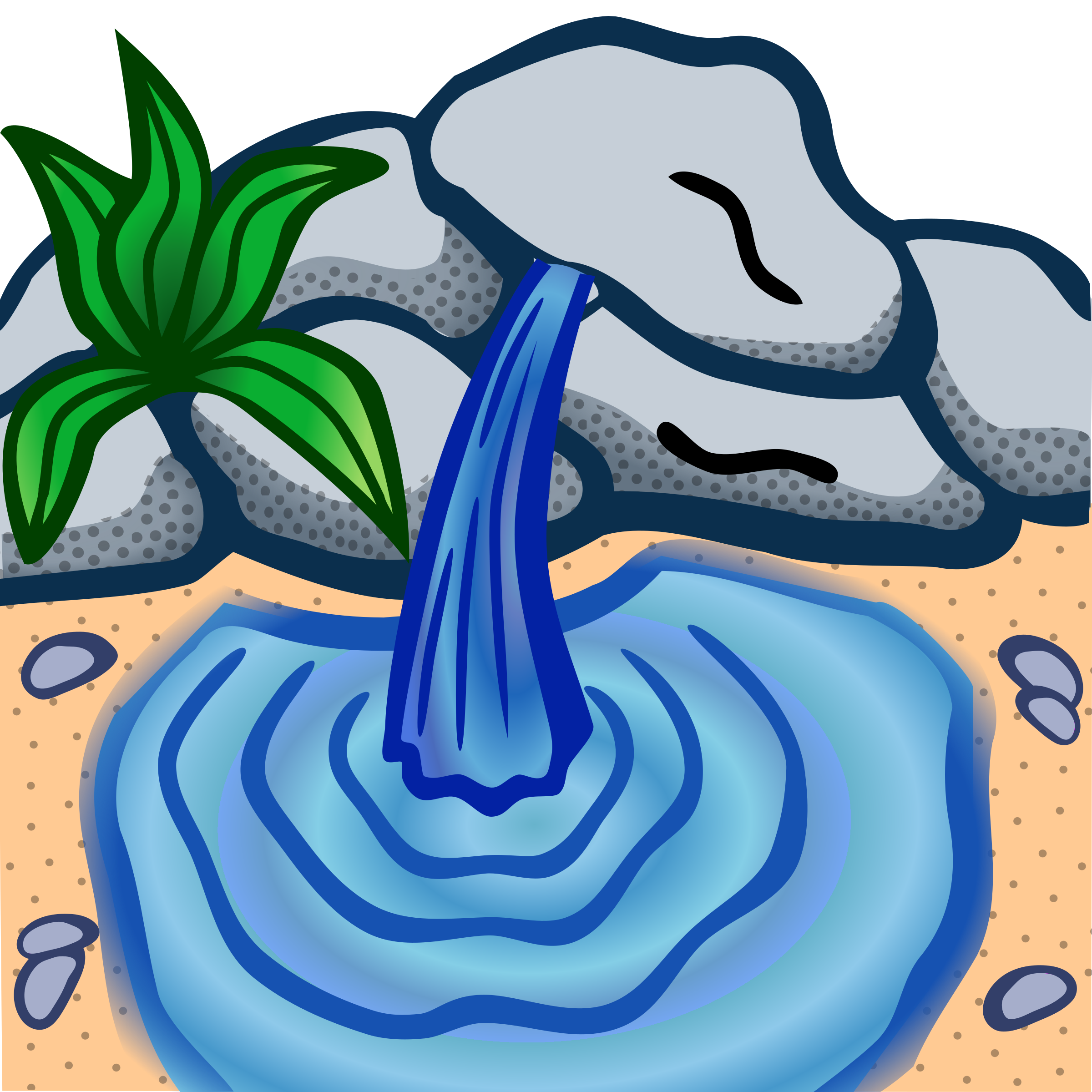 Sream clipart spring water Water background clipart Spring clipart
