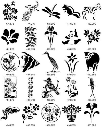 Nature clipart stencil World Nature ClipArt Art Dover