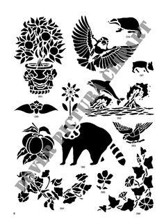 Nature clipart stencil Stencil Designs Pinterest Stencil