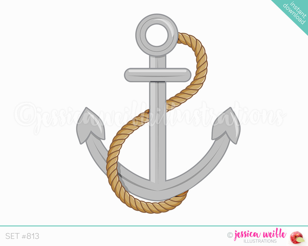 Navy clipart anchor rope #9