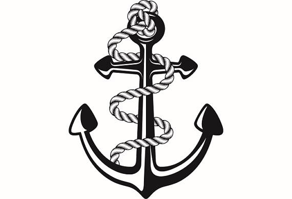 Navy clipart anchor rope #15