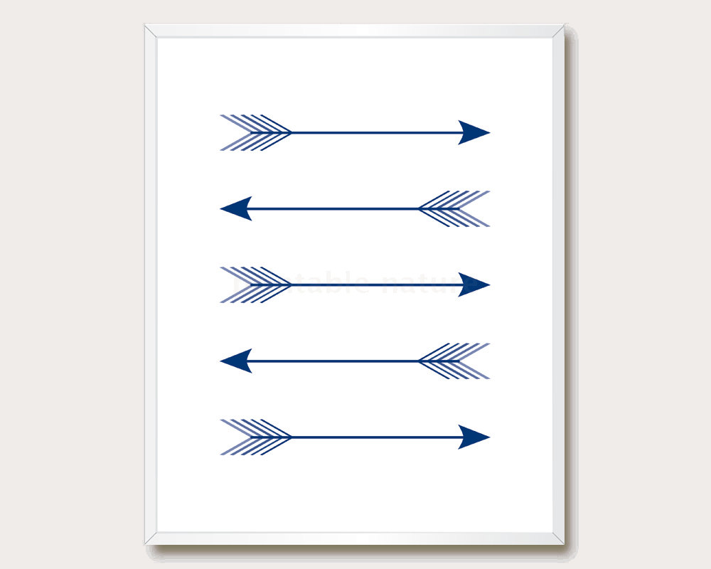 Arrow clipart dark blue Arrow Wall Tribal 5x7 Arrow