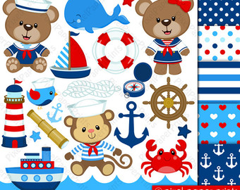 Teddy clipart nautical #2