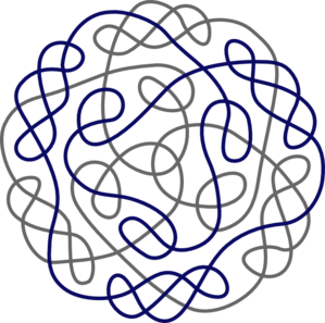 Celtic Knot clipart blue Art Gray Knot com Navy