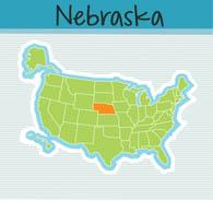 Nebraska clipart Clipart United Map Size: States: