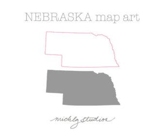 Nebraska clipart Art Vector PNG map Nebraska
