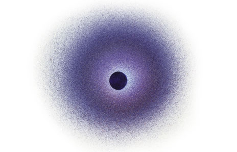 Black Hole clipart black and white Black the Giant Red Object)
