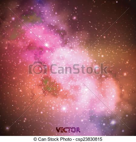 Nebula clipart milky way Space Art outer Vector vector