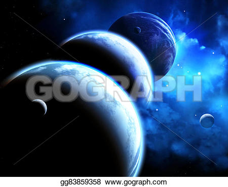 Universe clipart space scene Scene and Drawing nebula furnished