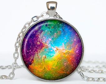 Nebuli clipart Pendant Nebula necklace Etsy Nebula